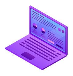 modern laptop icon isometric style vector image
