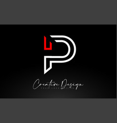 Monogram p letter logo design with creative lines vector
