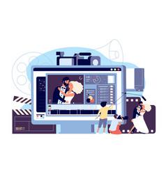 motion design studio concept cinematographic vector image