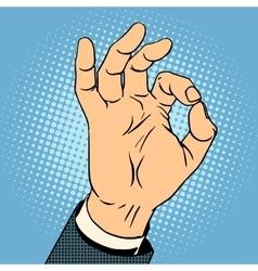 Okay gesture vector
