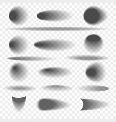 Oval and round objects shadow set vector