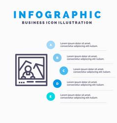 Picture image landmark photo blue infographics vector