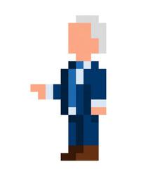 pixel democrat president - isolated vector image