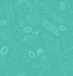 plankton seamless pattern vector image