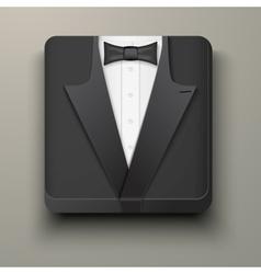 Premium Icon tuxedo and bow-tie vector