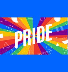 pride lgbt flag poster banner vector image