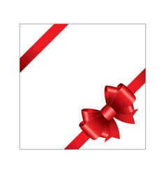 red ribbon bow 04 vector image