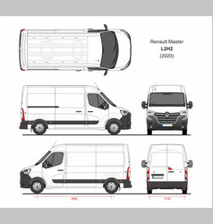 Renault master cargo delivery van l2h2 2020 vector