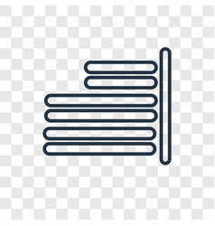 Right align concept linear icon isolated on vector
