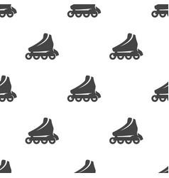 roller skate seamless pattern vector image