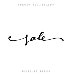 Sale offer text calligraphy written by hand vector image