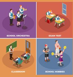 School life design concept vector