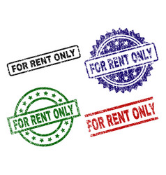 scratched textured for rent only seal stamps vector image