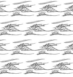 Seamless landscape pattern vector