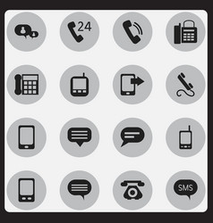 set of 16 editable device icons includes symbols vector image