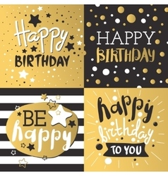 Set of beautiful birthday invitation cards vector image