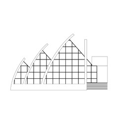 Sketch Architecture Building Project vector image