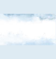 sky fantasy pastel blue watercolor hand-painted vector image