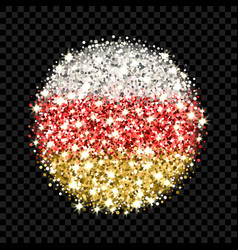 south ossetia flag sparkling badge vector image