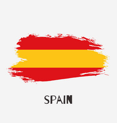 spain watercolor national country flag icon vector image