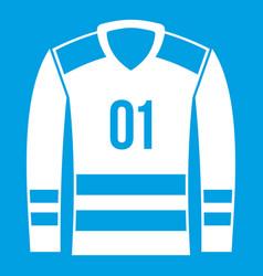 Sport uniform icon white vector