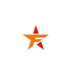 Star letter f logo vector