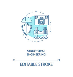 Structural engineering turquoise concept icon vector