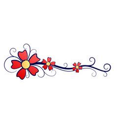 Symbol red flower vector