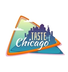 Taste of Chicago banner Flat town with title vector image