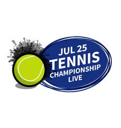Tennis sport scoreboard spotlight background vector