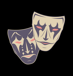 Theatrical mask 7 vector