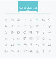 Travel vacation tourism island and more thin vector