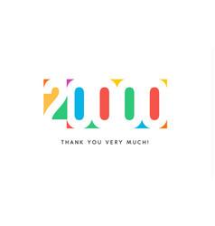 Twenty thousand subscribers baner colorful logo vector