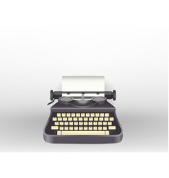 Typewriter write a message isolated background vector