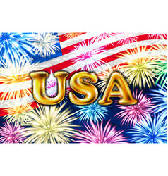 usa gold balloons happy independence day on 4 vector image