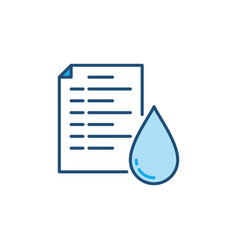 Utility bill for water concept colored icon vector