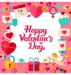valentines day paper concept vector image