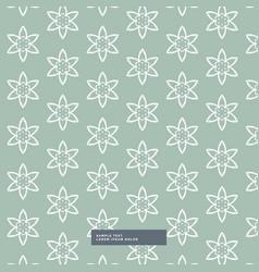 Vintage flower pattern background vector