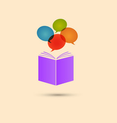 Violet book with colored circles white vector