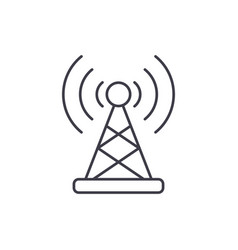 wireless connection line icon concept wireless vector image