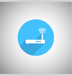 wireless signal router icon wi fi router flat ico vector image