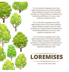 abstract forest poster design - eco poster vector image vector image