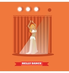 Belly dance woman on stage concept poster vector image