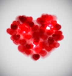 Blurred Heart vector image vector image