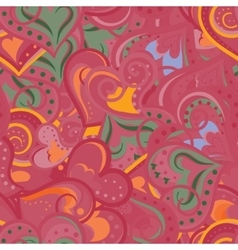 Heart red and orange pattern seamless vector image vector image