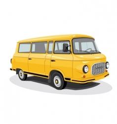 retro bus vector image