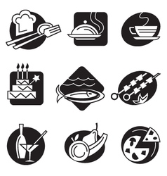 set of different food icons vector image vector image