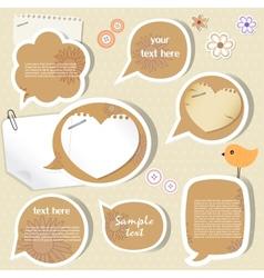 Speech bubbles scrapbook elements vector image vector image