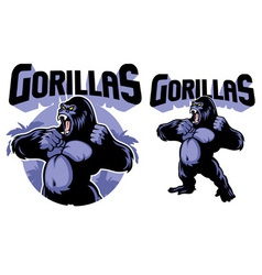 Big gorilla mascot vector image vector image