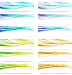 Modern satin swoosh smooth futuristic abstract vector image vector image